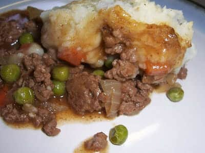 Cottage Pie serving on a plate