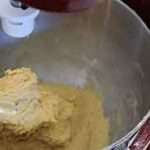 dough kneading in kitchen aid