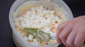 stirring in marshmallows