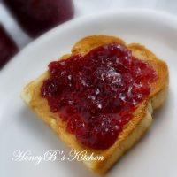 Berry Rhubarb Jam on toast