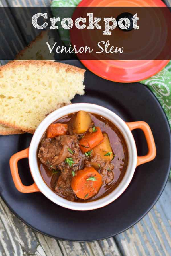 Pinnable image for crockpot venison stew