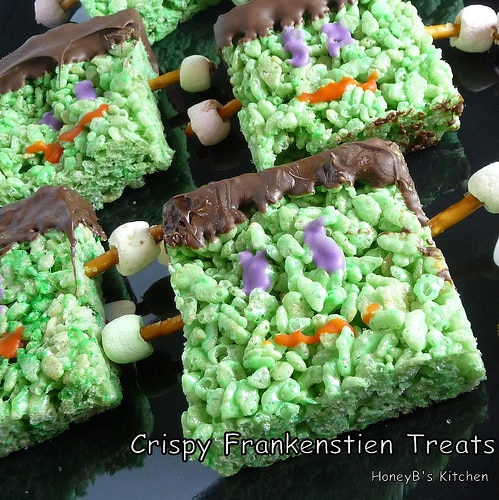 Crispy Frankenstein Treats