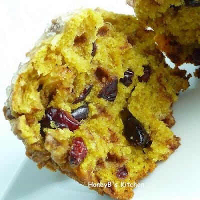 Pumpkin Cranberry Chip Muffins