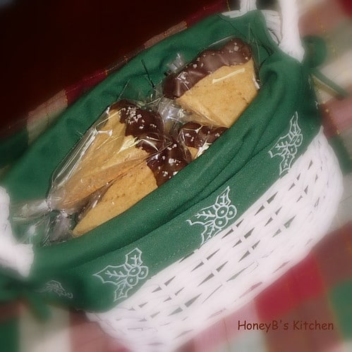 Individually wrapped Cookies in a gift basket