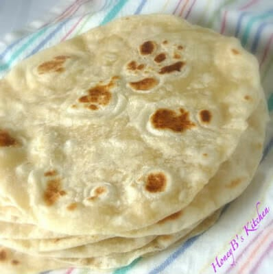 orignial photo of homemade flour tortillas