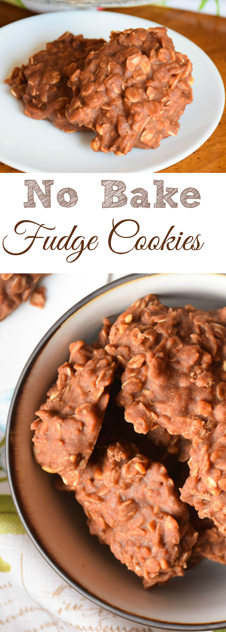 No Bake Fudge Cookies