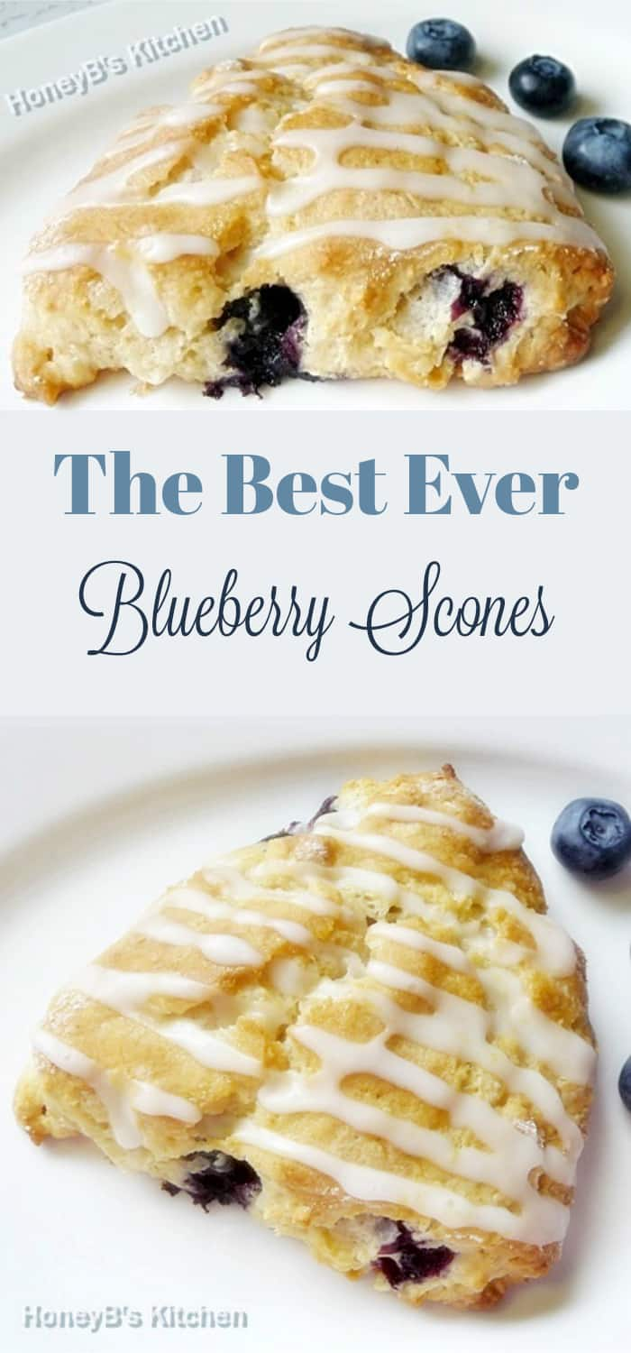 The Best Ever Blueberry Scones
