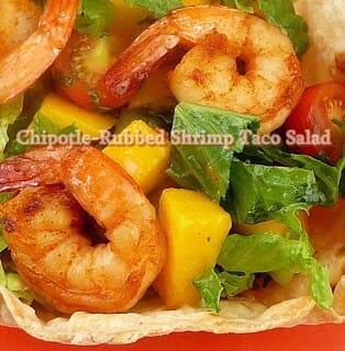 Chipotle-Rubbed Shrimp Taco Salad