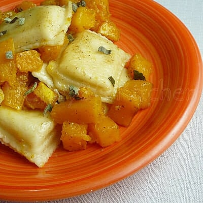 Cheese Ravioli withButternut Squash and Sage Browned Butter