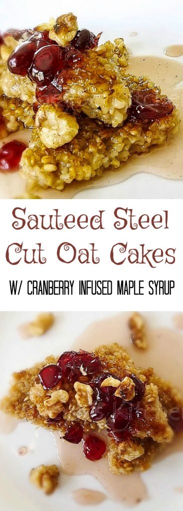 Sauteed Steel Cut Oat Cakes