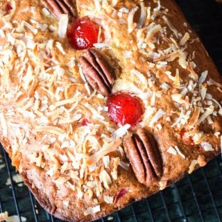 Cherry Coconut Banana Pecan Bread