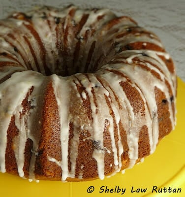 Blueberry Pound Cake with Lemon Glaze