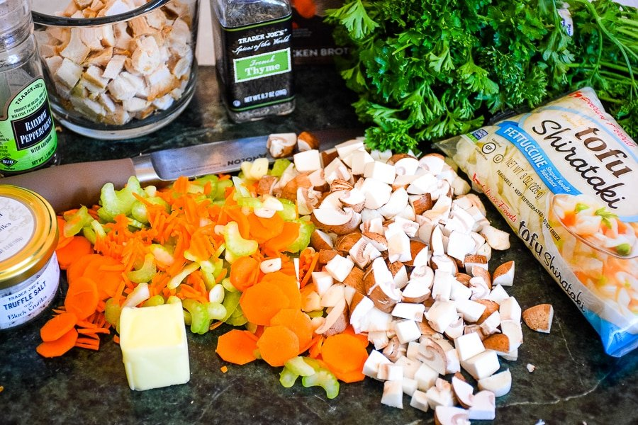 Homemade Chicken Noodle Soup Ingredients