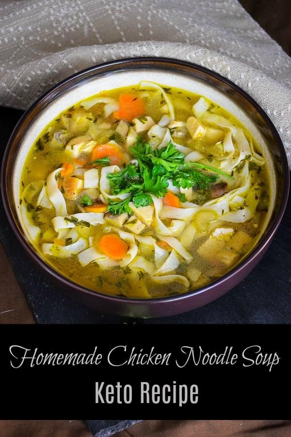 Homemade Keto Chicken Noodle Soup