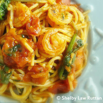 Shrimp Fra Diavolo with Spinach