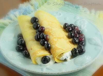 Cornmeal Crepes with Ricotta Blueberry Filling and Family Celebrations ...