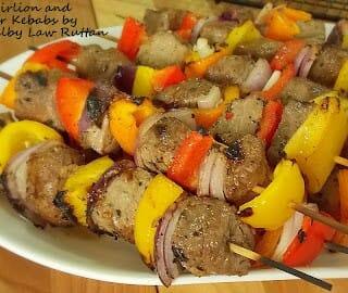 Beef Sirloin and Bell Pepper Kebabs