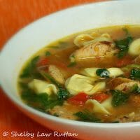 Jalapeno Chicken Sausage and Tortellini Soup