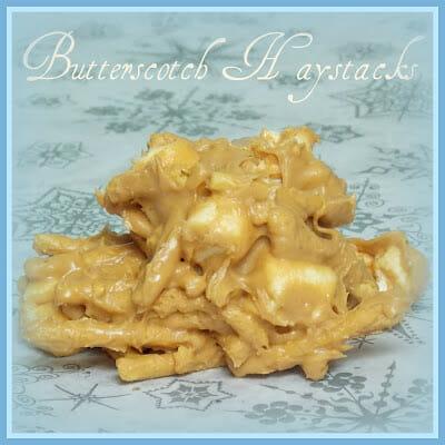 Easy No Bake Butterscotch Haystack Cookies