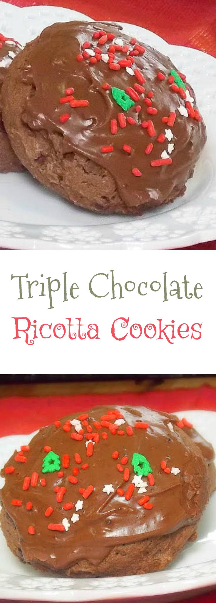 Triple Chocolate Ricotta Cookies