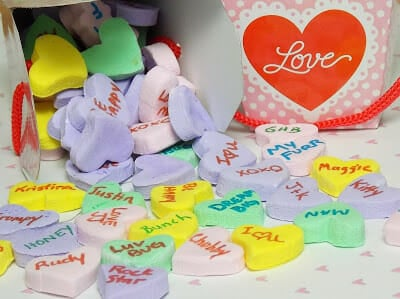 Valentine's Day Recipe Idea for Homemade Conversation Hearts