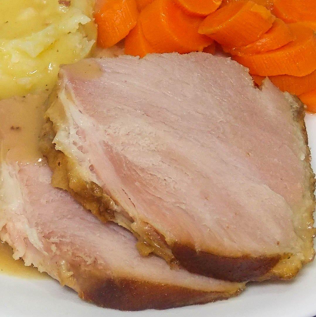 Cider Bourbon Glazed Ham