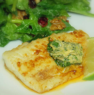 Skillet Cod with Cilantro Lime Butter