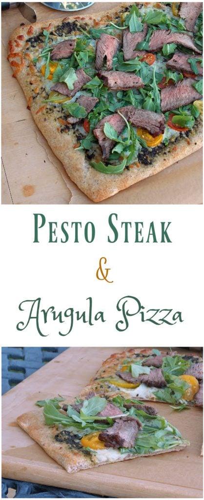 Pesto Steak and Arugula Pizza