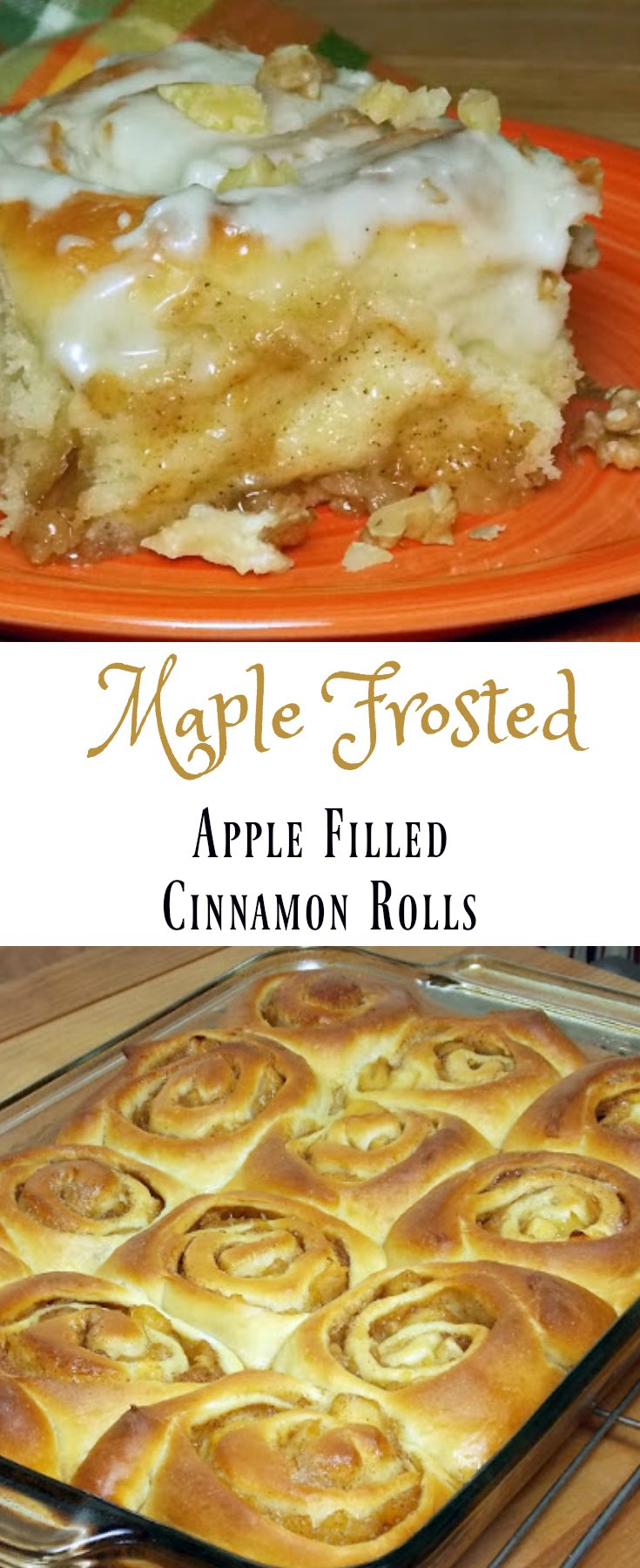 Apple Filled Cinnamon Rolls