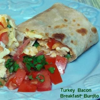 Turkey Bacon Breakfast Burrito