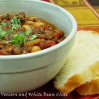 White Bean Chili with Ground Venison