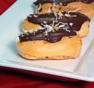 Coconut Cream Eclairs