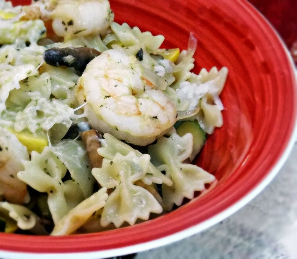 Shrimp with Squash and Penne #pasta #shrimp #lemon