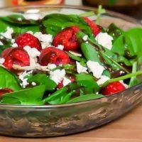 Honey Dijon Spinach Salad
