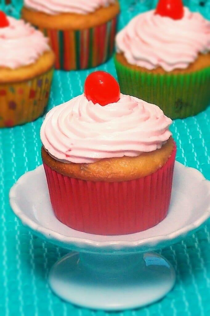 Moonshine Cherry Cupcakes