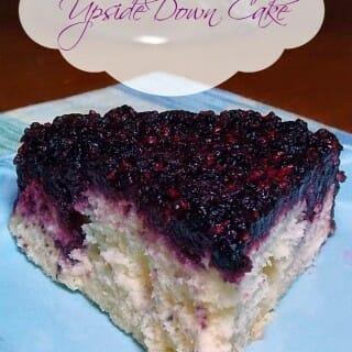 Blackberry Upside Down Cake
