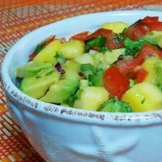 Avocado Tomato Mango Salsa