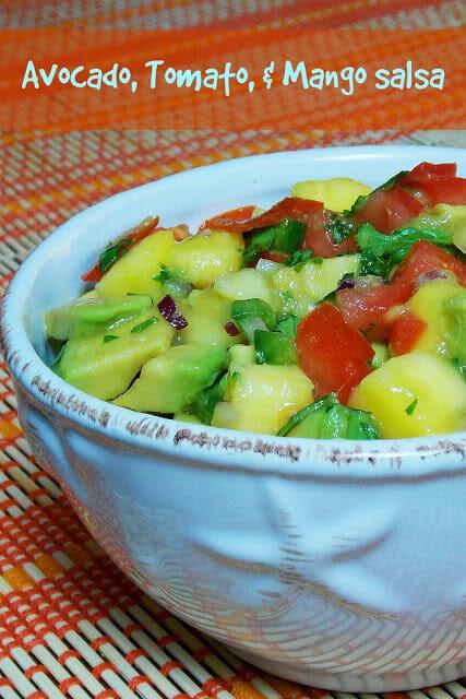 Avocado, Tomato, & Mango Salsa #avocado #salsa #jalapeno