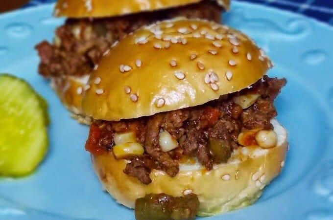 Beef and Veggie Sliders