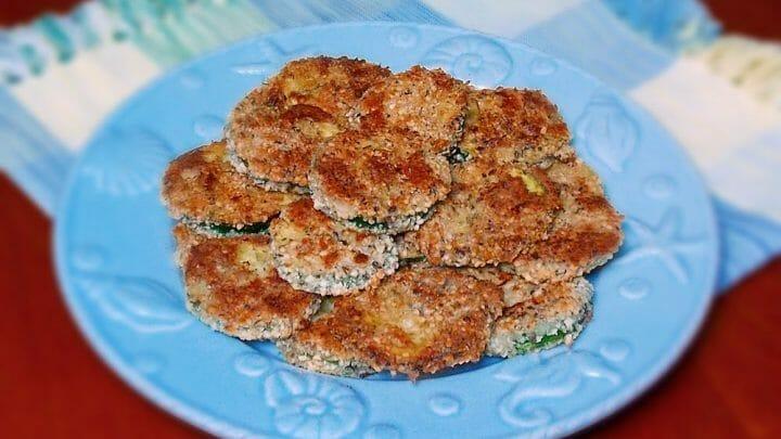 Cashew Breaded Zucchini Chips