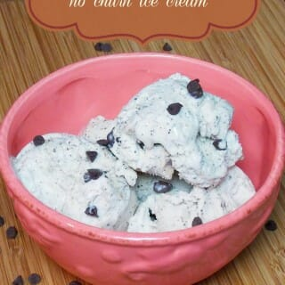 Coffee Chip No Churn Ice Cream #IceCreamWeek