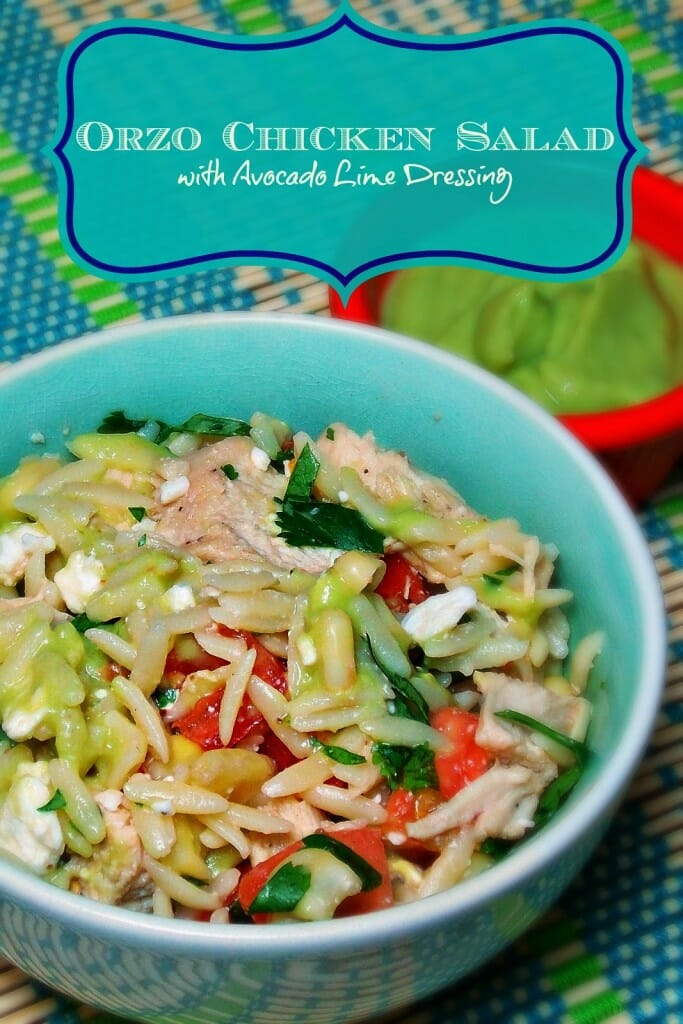 Orzo Chicken Salad with Avocado Lime Dressing - Grumpy's Honey Bunch