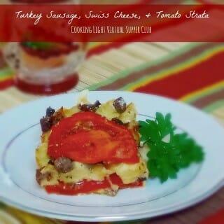 Swiss Tomato Sausage Strata