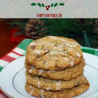 Chewy Mocha Toffee Chip Cookies