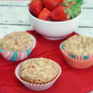 Lemon-Strawberry Chia Seed Muffins