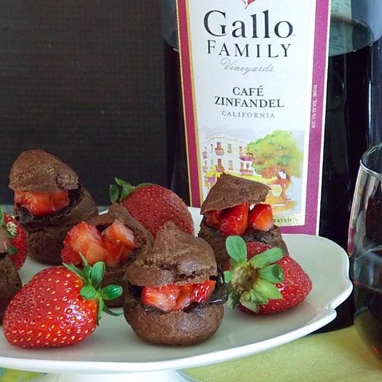 Chocolate Strawberry Cream Puff Bites