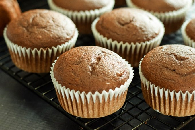 Root Beer Cupcake Unfrosted