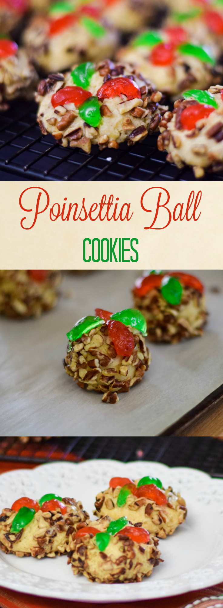Poinsettia Ball Cookies Pinterest