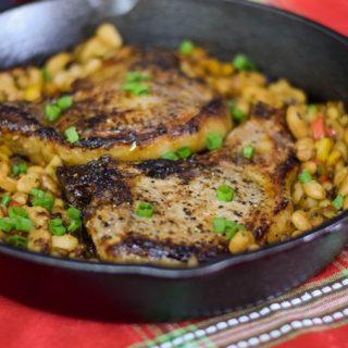 Bourbon Glazed Pork Chops