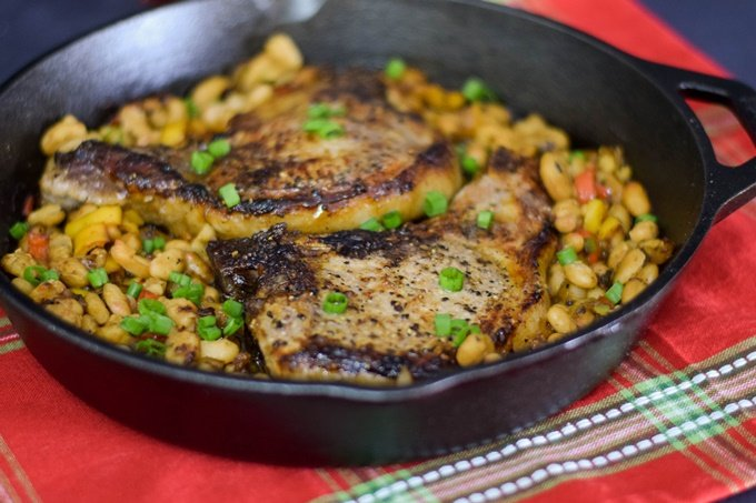 Bourbon Glazed Pork Chops